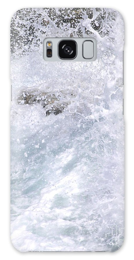 White Water Galaxy S8 Case featuring the photograph Crashing Against Lava Rocks by Mary Deal
