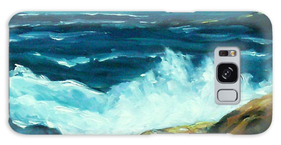 Sea Galaxy S8 Case featuring the painting Crashing Waves by Richard T Pranke