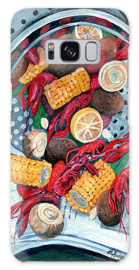 Crawfish Galaxy S8 Case featuring the painting Crawfish Pot by Elaine Hodges