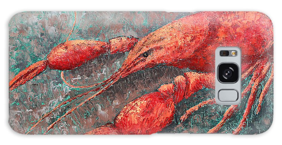 Animal Galaxy S8 Case featuring the painting Crawfish by Todd Blanchard