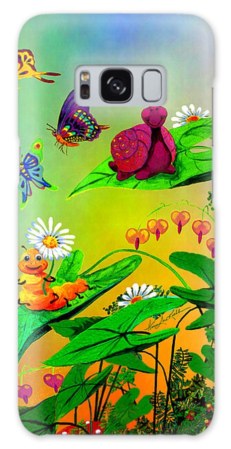 Wall Mural For Kids Galaxy S8 Case featuring the painting Crawlers Chorus by Hanne Lore Koehler