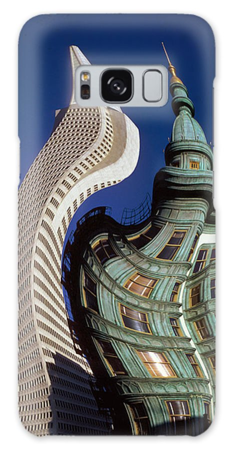 Trans-am Building Galaxy Case featuring the photograph San Francisco On Lsd by Carl Purcell