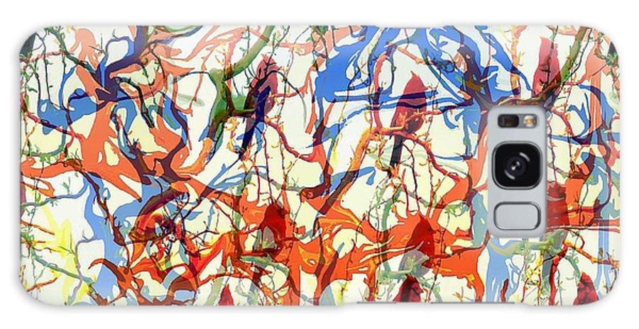 Birds Galaxy S8 Case featuring the digital art Crazy Cardinals by Shelley Jones