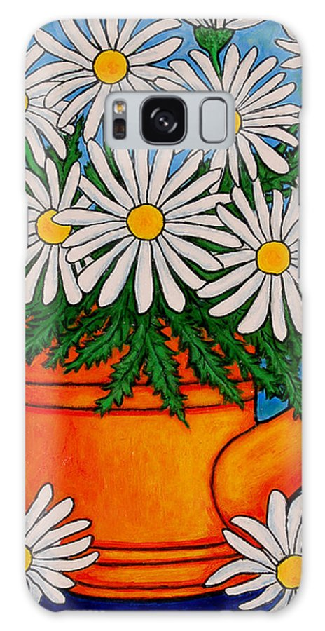 Daisies Galaxy S8 Case featuring the painting Crazy For Daisies by Lisa Lorenz
