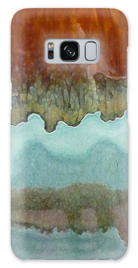 Abstract Galaxy S8 Case featuring the digital art Creamy Layers by Florene Welebny