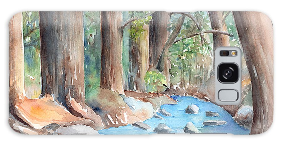 Creek Galaxy S8 Case featuring the painting Creek In The Woods by Arline Wagner