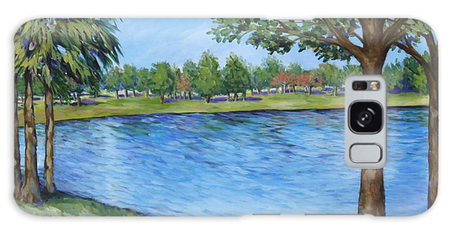 Lake Galaxy S8 Case featuring the painting Crest Lake Park by Penny Birch-Williams