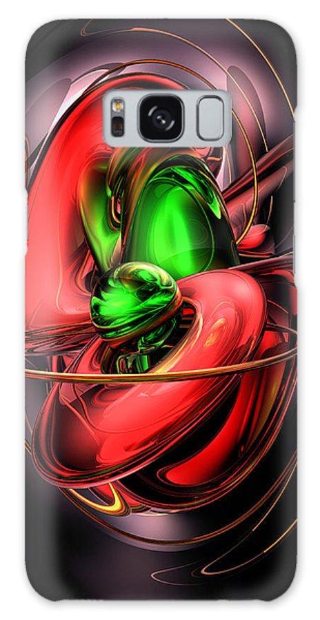 3d Galaxy S8 Case featuring the digital art Crimson Affection Abstract by Alexander Butler