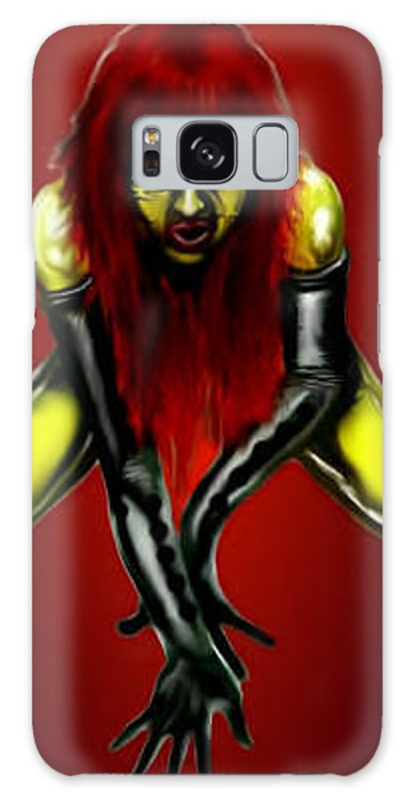 Pin-up Galaxy S8 Case featuring the digital art Crimson Gold by Will Le Beouf