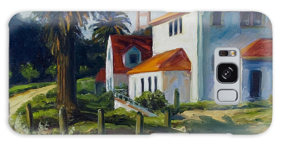 San Francisco Galaxy Case featuring the painting Crissy Field by Rick Nederlof
