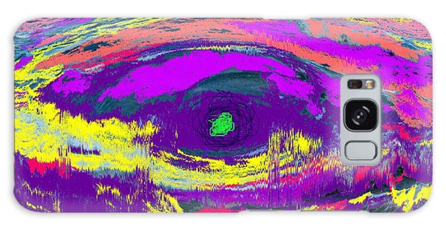 Abstract Galaxy S8 Case featuring the digital art Crocodile Eye by Ian MacDonald