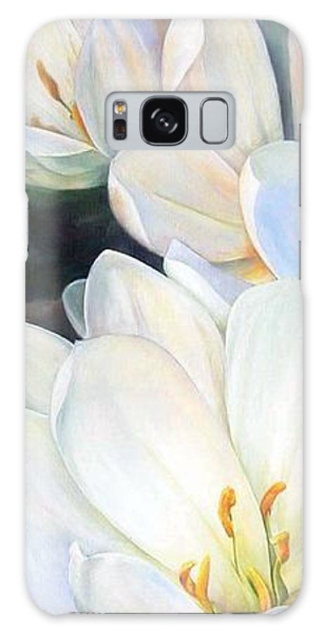 Floral Painting Galaxy S8 Case featuring the painting Crocus by Muriel Dolemieux