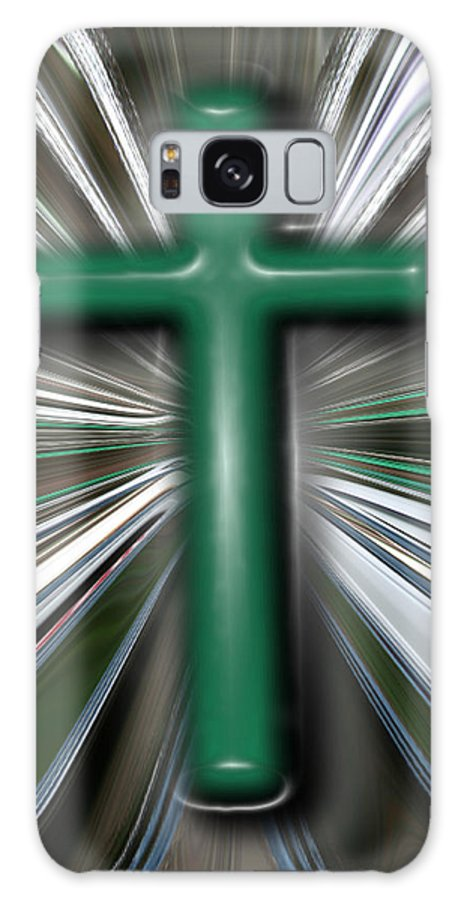 Abstract Galaxy S8 Case featuring the digital art Cross Blast by Joshua Sunday