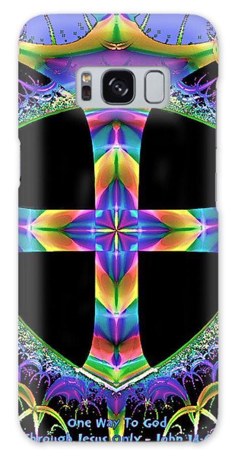 Cross Galaxy S8 Case featuring the painting Cross Of One Way To God by Susanna Katherine