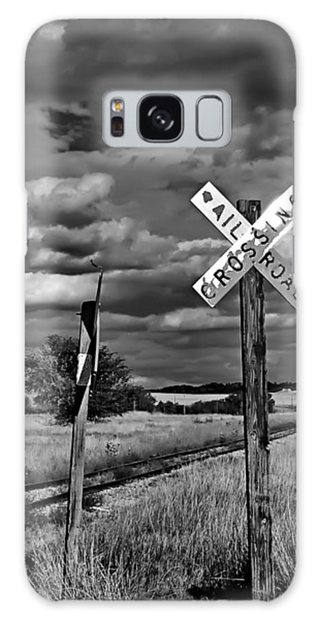 Railroad Crossing Galaxy S8 Case featuring the photograph Crossing by Nada Frazier