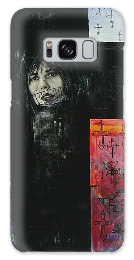Cross Galaxy S8 Case featuring the painting Crossroad by Yelena Tylkina