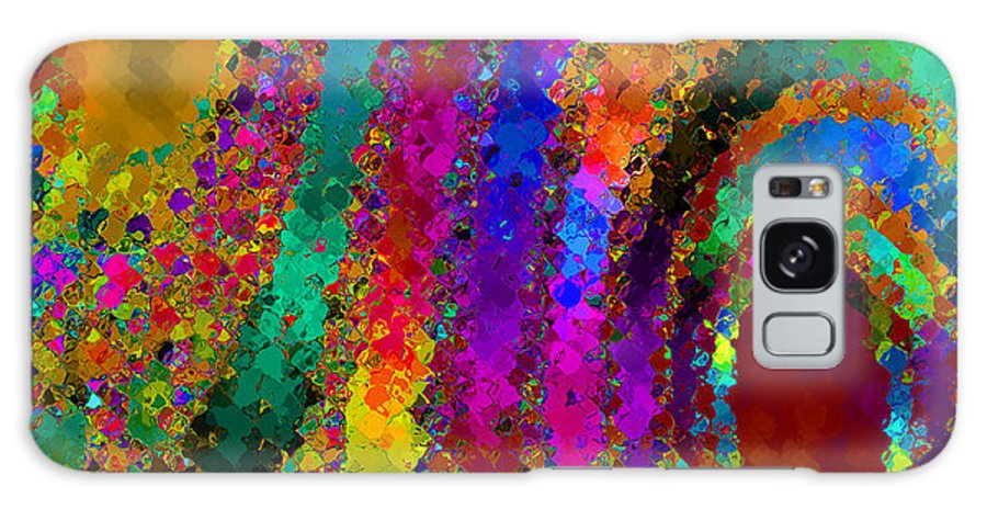 Abstract Galaxy Case featuring the digital art Crown Jewels by Ruth Palmer