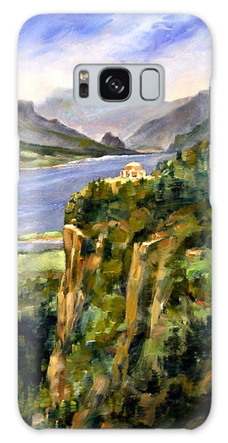16 X 12 Galaxy S8 Case featuring the painting Crown Point Oregon by Jim Gola