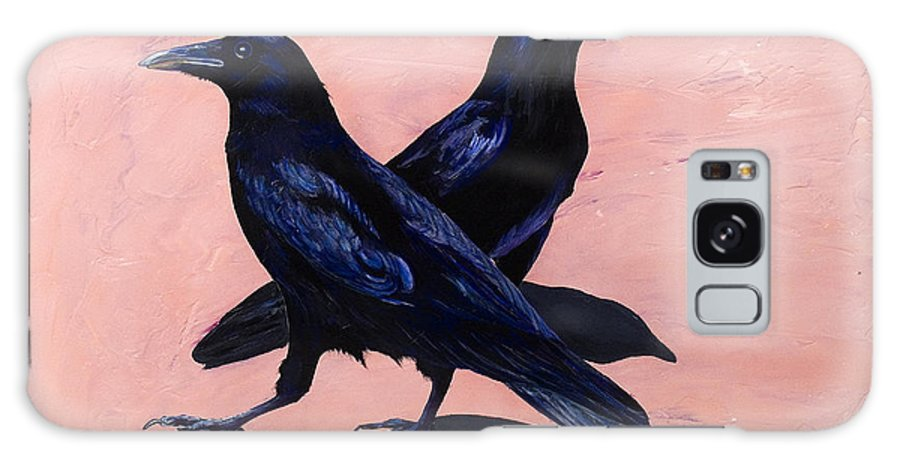 Crows Galaxy S8 Case featuring the painting Crows by Sandi Baker