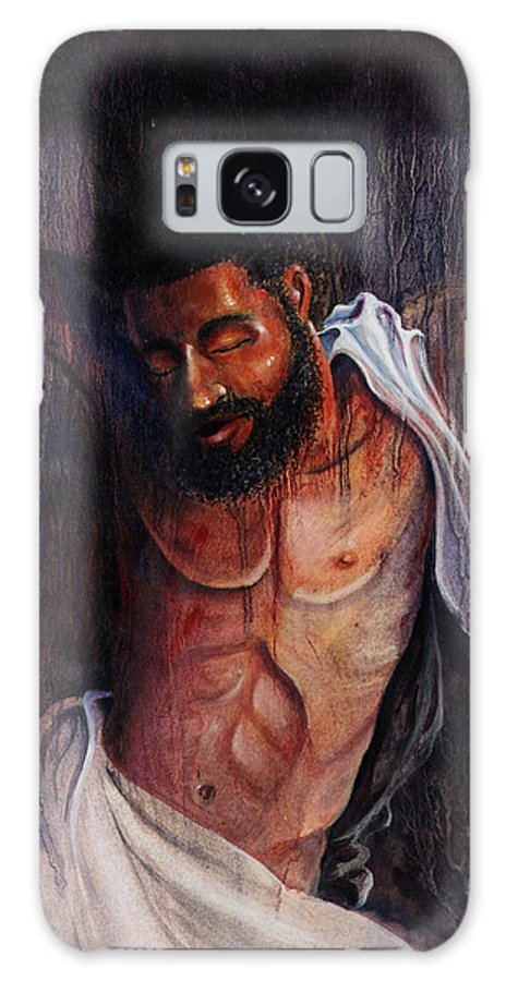 Christian Galaxy S8 Case featuring the painting Crucifixion by Lewis Bowman