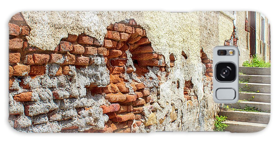 Wall Galaxy S8 Case featuring the photograph Crumbling Wall by Lorraine Baum