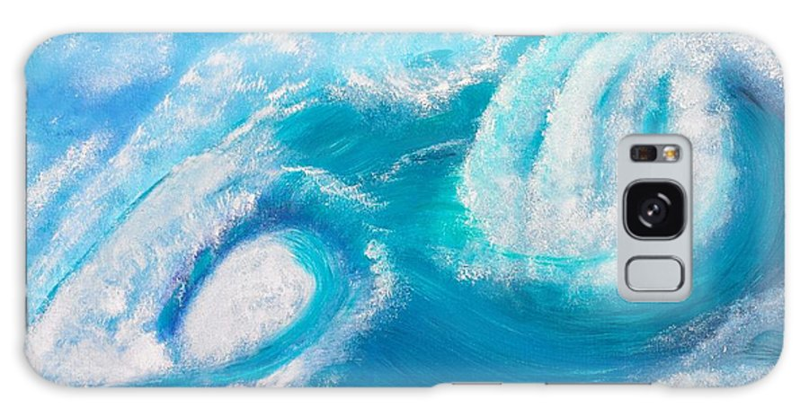 Wave Galaxy S8 Case featuring the painting Crushing Wave by Valerie Ornstein