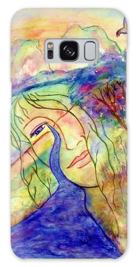 Spirituality Galaxy S8 Case featuring the painting Cry Me A River by Robin Monroe