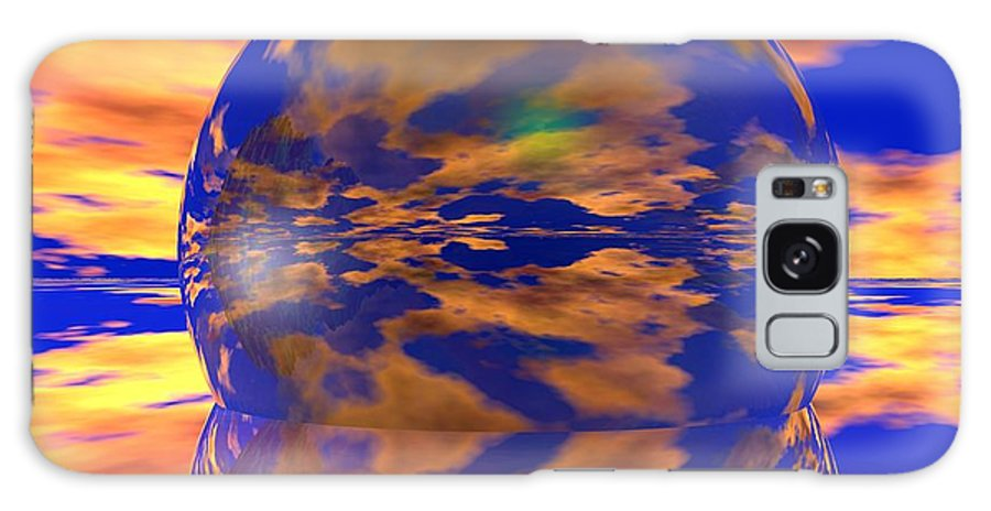 Ball Galaxy S8 Case featuring the digital art Crystal Ball by Robert Orinski