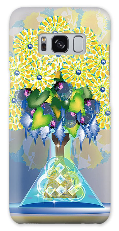 Flowers Galaxy Case featuring the digital art Crystal Boquet by George Pasini