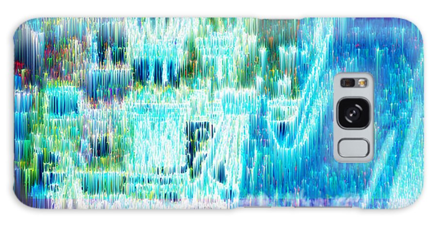 Northern Lights Galaxy Case featuring the digital art Crystal City by Seth Weaver