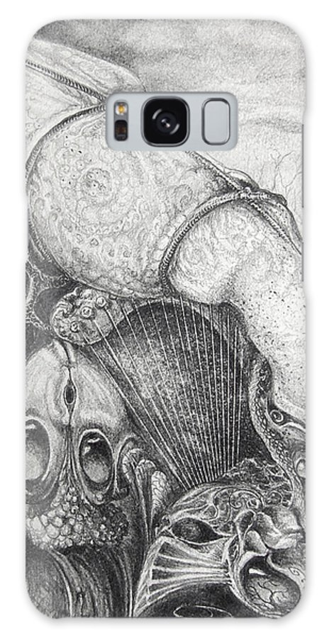 Surrealism Galaxy S8 Case featuring the drawing Ctulhu Seedpods by Otto Rapp