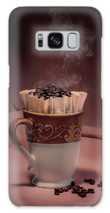 Aroma Galaxy Case featuring the photograph Cup Of Hot Coffee by Tom Mc Nemar