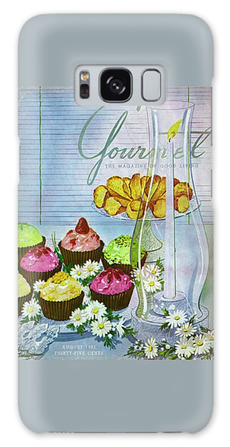 Illustration Galaxy S8 Case featuring the photograph Cupcakes And Gaufrettes Beside A Candle by Henry Stahlhut