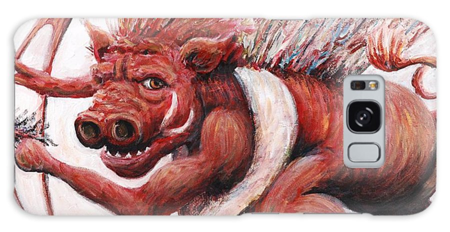 Pig Galaxy S8 Case featuring the painting Cupig by Nadine Rippelmeyer