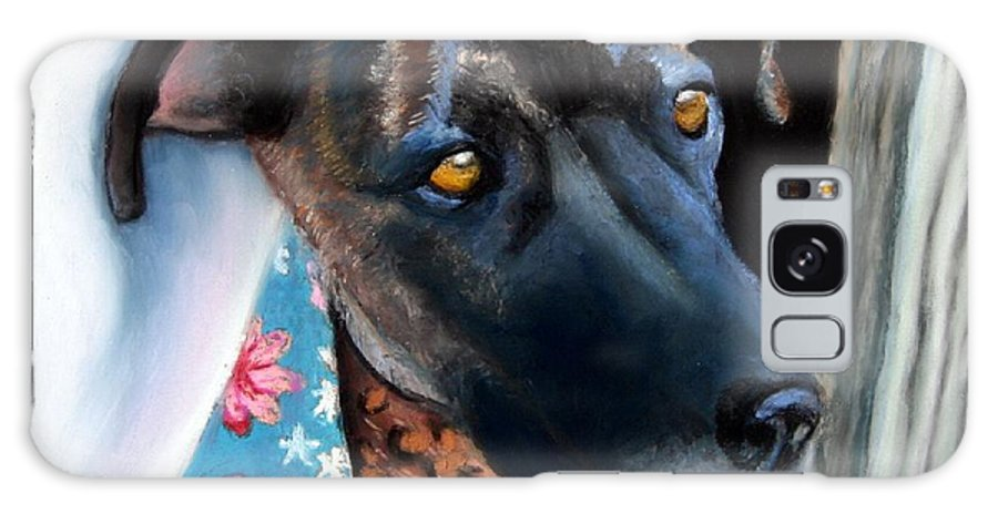Great Dane Galaxy Case featuring the painting Whats Going On? by Minaz Jantz