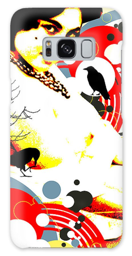 Nostalgic Seduction Galaxy S8 Case featuring the digital art Curious Crow by Chris Andruskiewicz