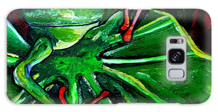Tree Frog Galaxy S8 Case featuring the painting Curious Tree Frog by Patti Schermerhorn