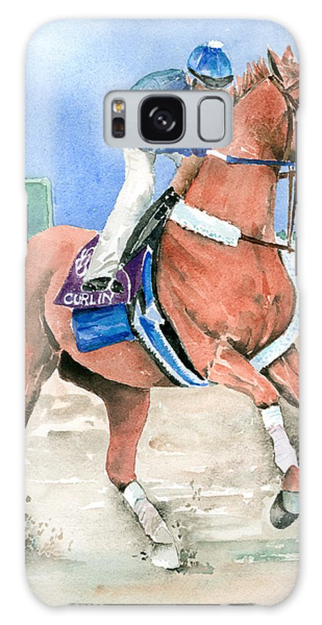 Curlin Galaxy S8 Case featuring the painting Curlin by Arline Wagner