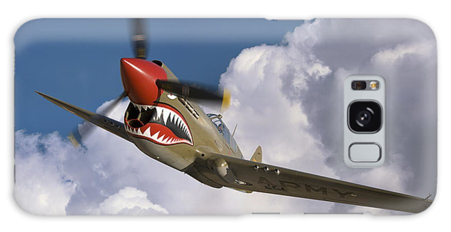 Flying Tigers Galaxy S8 Case featuring the photograph Curtiss P-40n Warhawk by Larry McManus