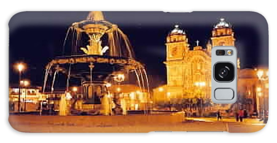 Night Galaxy S8 Case featuring the photograph Cusco Peru by Kathy Schumann