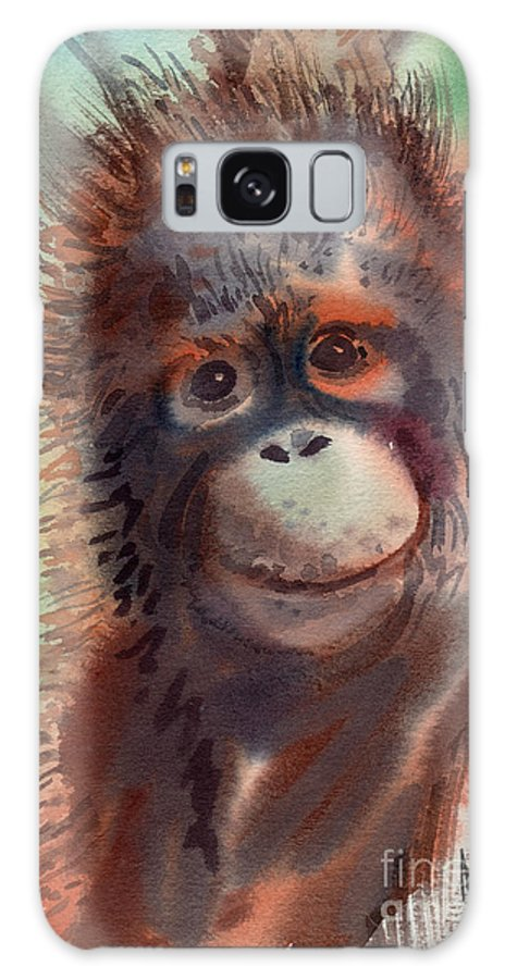 Orangutans Galaxy S8 Case featuring the painting My Precious by Donald Maier