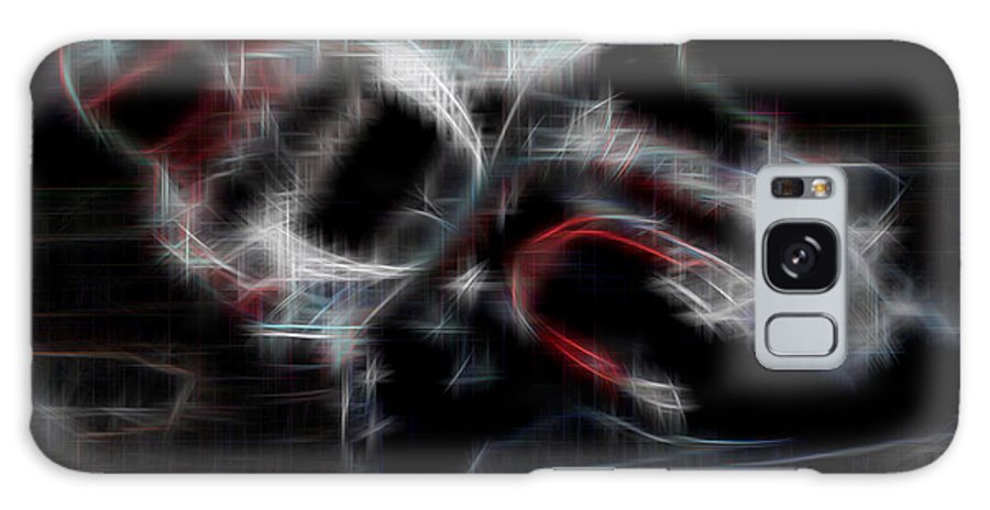 Motorcycle Art Galaxy S8 Case featuring the digital art Cyclist by Kenneth Armand Johnson