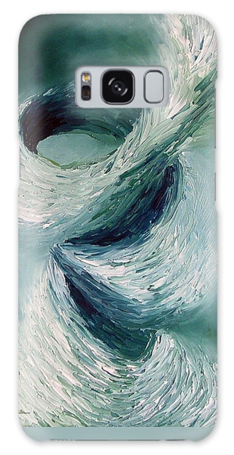 Tornado Galaxy Case featuring the painting Cyclone by Elizabeth Lisy Figueroa