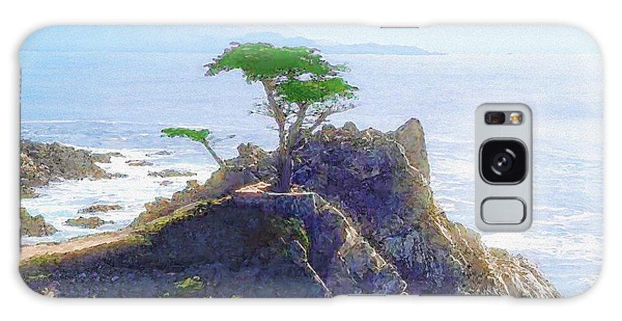 Cypress At Carmel Galaxy S8 Case featuring the painting Cypress At Carmel by Todd L Thomas