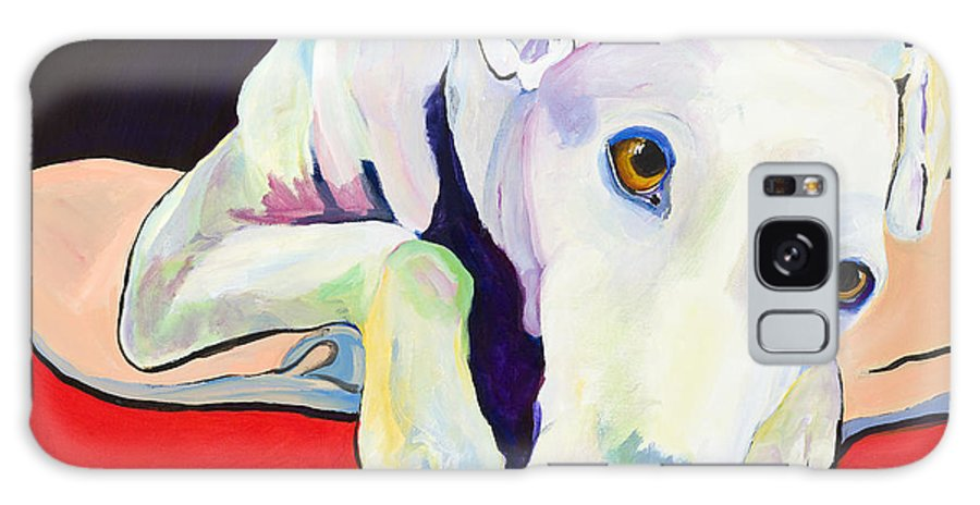 Animals Pets Greyhound Galaxy S8 Case featuring the painting Cyrus by Pat Saunders-White