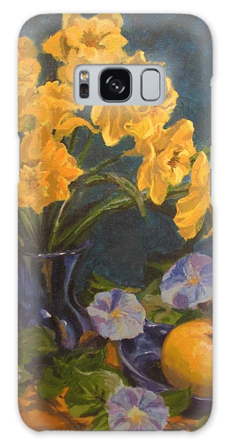 Still Life Galaxy S8 Case featuring the painting Daffodils by Karen Ilari