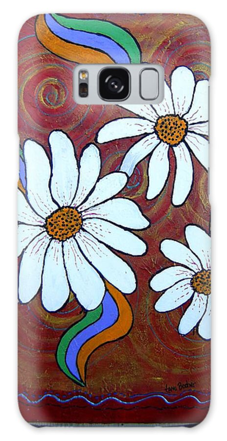 Galaxy Case featuring the painting Daisies Gone Wild by Tami Booher