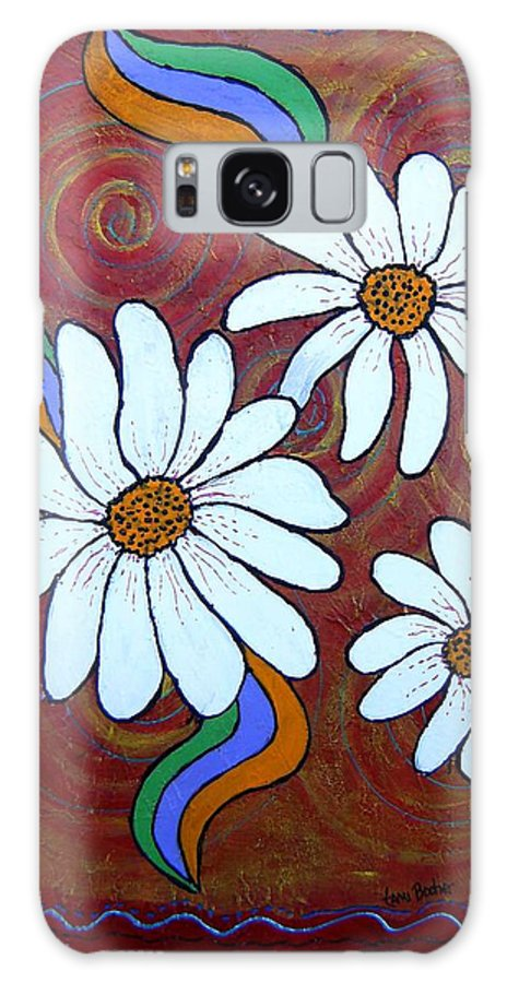 Galaxy S8 Case featuring the painting Daisies Gone Wild by Tami Booher