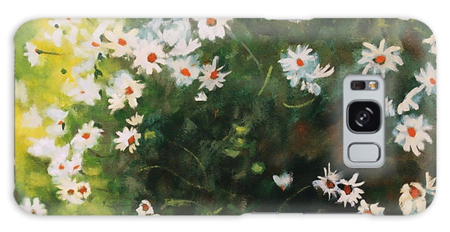 Daisies Galaxy S8 Case featuring the painting Daisies by Iliyan Bozhanov