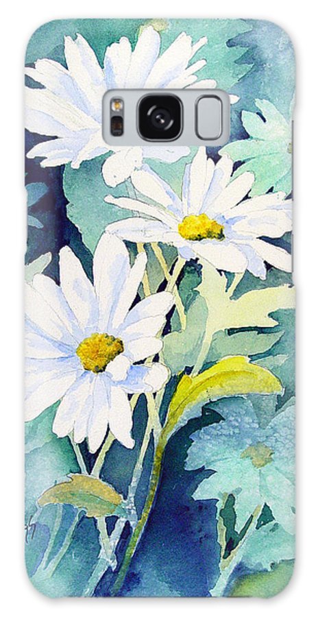Flowers Galaxy S8 Case featuring the painting Daisies by Sam Sidders